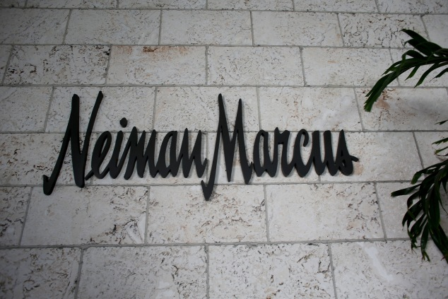 CORAL GABLES, FL - SEPTEMBER 09:  A Neiman Marcus sign is seen the outside of one of the stores on September 9, 2013 in Coral Gables, Florida.  Reports indicate that Neiman Marcus is being sold for $6 billion to Ares Management and the Canada Pension Plan Investment Board.  (Photo by Joe Raedle/Getty Images)