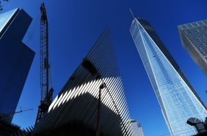 Commercial hubs like One World Trade Center render FiDi more attractive to residents. Photo: JEWEL SAMAD/AFP/Getty Images)