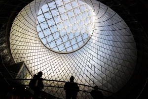 Fulton Center enables commuters to transfer between 9 subway lines. (Photo: Spencer Platt/Getty Images)