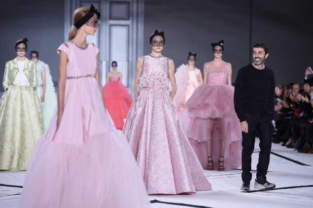 PARIS, FRANCE - JANUARY 26:  Fashion designer Giambattista Valli acknowledges the applause of the audience after the his show as part of Paris Fashion Week Haute Couture Spring/Summer 2015 on January 26, 2015 in Paris, France.  (Photo by Pascal Le Segretain/Getty Images)