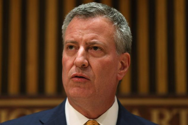 Mayor Bill de Blasio earlier this year.