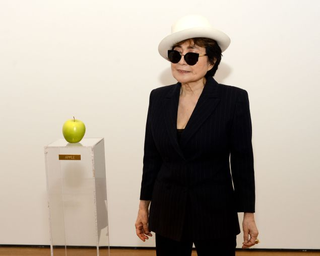 "Artist Yoko Ono attends the ""Yoko Ono: One Woman Show, 1960-1971"" press preview at the Museum of Modern Art on May 12, 2015 in New York City. (Photo by Ben Gabbe/Getty Images)"