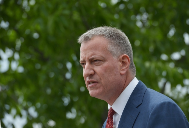 Mayor Bill de Blasio. (Photo: MANDEL NGAN/AFP/Getty Images)