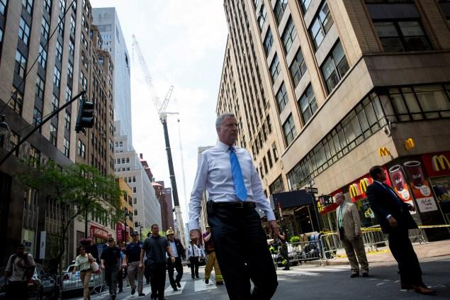 Mayor Bill de Blasio. (Photo: Eric Thayer/Getty Images)