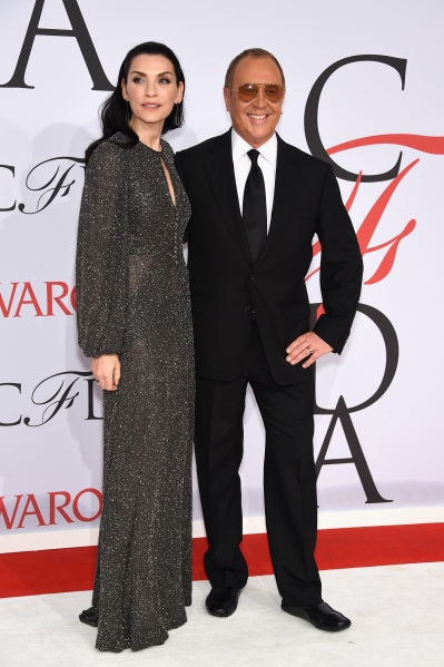 NEW YORK, NY - JUNE 01:  Actress Julianna Margulies (L) and designer Michael Kors  attend the 2015 CFDA Fashion Awards at Alice Tully Hall at Lincoln Center on June 1, 2015 in New York City.  (Photo by Dimitrios Kambouris/Getty Images)