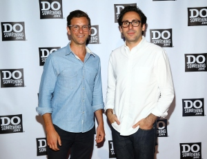 Co-founders of Warby Parker Dave Gilboa and Neil Blumenthal attend the DoSomething.org Spring Dinner 2015 at Capitale on June 11, 2015 in New York City.  (Photo by Astrid Stawiarz/Getty Images for DoSomething.org)