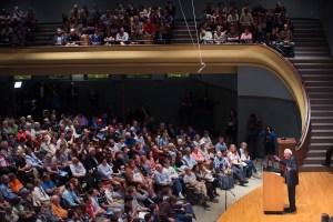 Mr. Sanders in Iowa.  (Photo: Scott Olson/Getty Images)