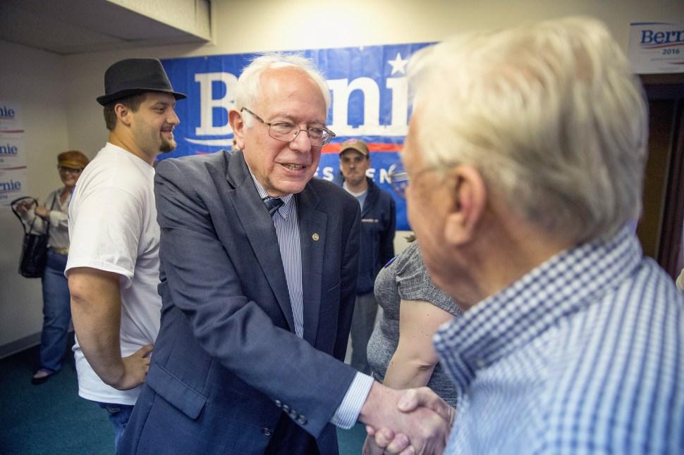 Bernie Sanders on June 12, 2015 in Des Moines, Iowa.(Getty Images)