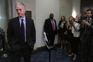 WASHINGTON, DC - JUNE 16:  House Select Committee on BenghaziChairman Trey Gowdy (R-SC) speaks to reporters. (Photo by Chip Somodevilla/Getty Images)