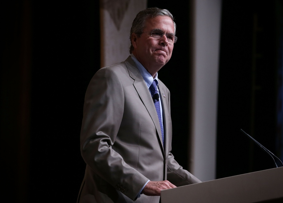 """Republican U.S. presidential hopeful and former Florida Governor Jeb Bush speaks during the """"Road to Majority"""" conference June 19, 2015 in Washington, DC.  (Alex Wong/Getty Images)"""