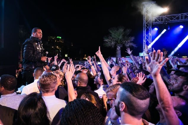 CANNES, FRANCE - JUNE 22:  Busta Rhymes performs onstage during the Cannes Lions Opening Gala at the Carlton Beach on June 22, 2015 in Cannes, France.  (Photo by Richard Bord/Getty Images)
