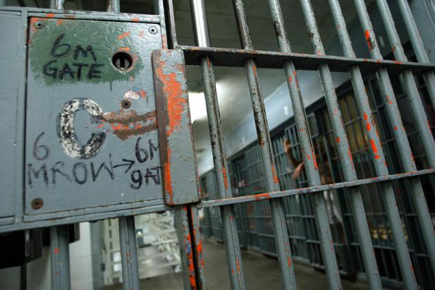 A locked cellblock inside the Los Angeles Men's Central Jail in downtown Los Angeles. (Photo: Robyn Beck/Getty Images)