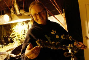 FORT COLLINS, CO - APRIL 19: Sonja Gibbins, a marijuana grower, looks over some of her plants April 19, 2010 in Fort Collins, Colorado. Gibbins joined a legal marijuana dispensary's staff this year as a grower, and recently harvested most of the hundreds of plants that constituted her first harvest. Colorado, one of 14 states to allow use of medical marijuana, has experienced an explosion in marijuana dispensaries, trade shows and related businesses in the last year as marijuana use becomes more mainstream here. (Photo by Chris Hondros/Getty Images)