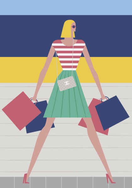 Your guide to shopping in the Hamptons this summer. (Illustration: Veronica Grech/The New York Observer)