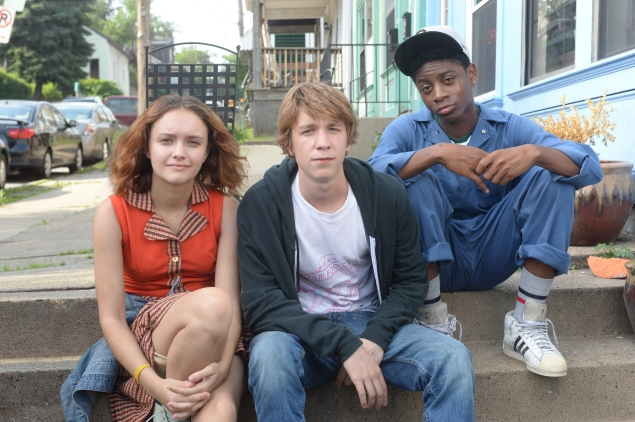 Olivia Cooke, Thomas Mann and RJ Cyler in Me and Earl and the Dying Girl.