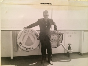 Joe in 1957. He rarely spoke about his past, but he'd traveled extensively.