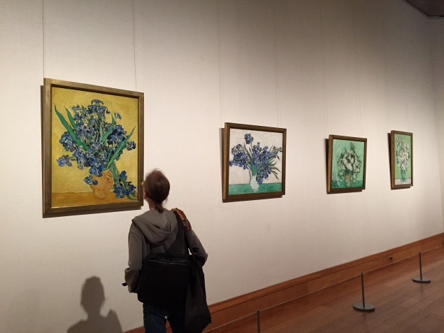 """Van Gogh: Irises and Roses"" on view at the Met. (Photo: Alanna Martinez)"