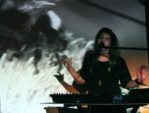 Emily Reo @ Silent Barn (Photo by Justin Joffe/ New York Observer)
