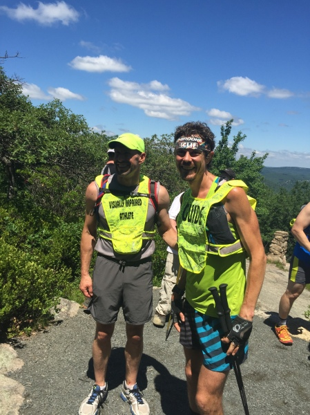Mr. Panek joined Mr. Jurek for a portion of the latter's attempt at setting the world record time for completing the entire Appalachian Trail. (Photo courtesy of the runners)