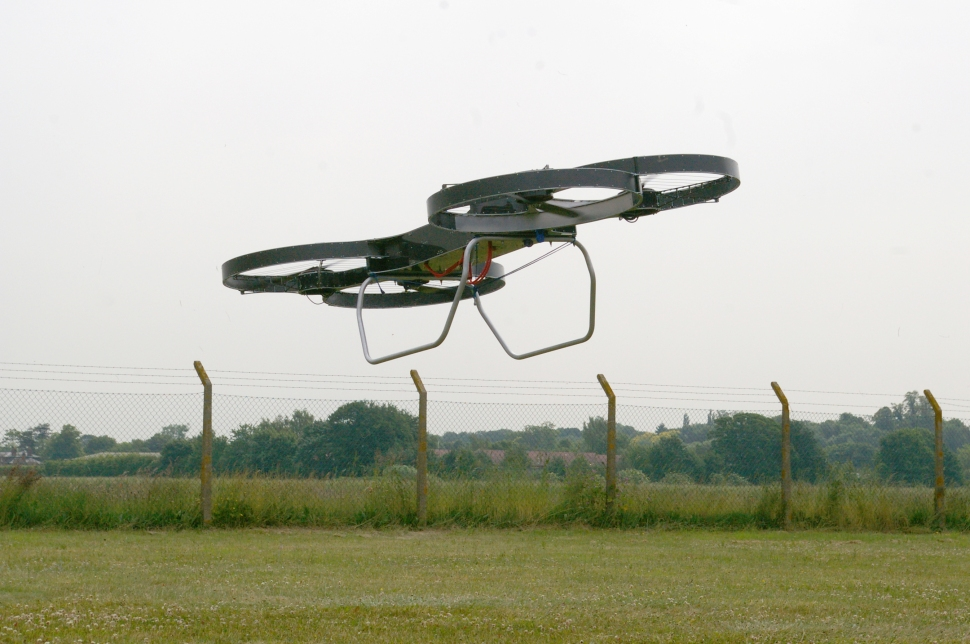 A demonstration prototype of Malloy Aeronautics hoverbike, still under development. (Photo: Malloy Aeronautics)