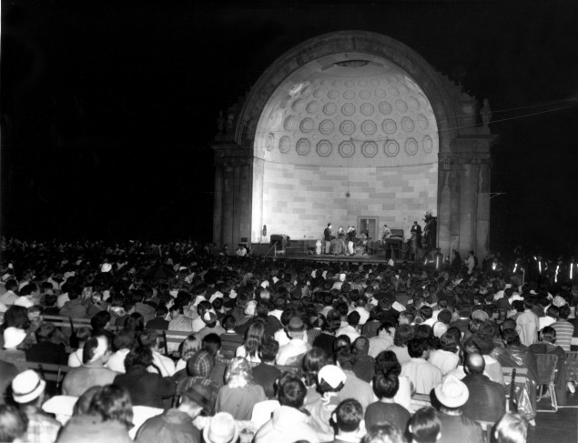 Summerstage was originally held at the Naumberg Bandshell when it began in 1986. (Nora Lanning/ City Parks Foundation)