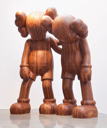 Kaws, Along The Way, 2013. Wood, 216 x 176 x 120 in. overall. Brooklyn Museum; Gift in honor of Arnold Lehman. Photo: Adam Reich, courtesy of the Mary Boone Gallery, New York