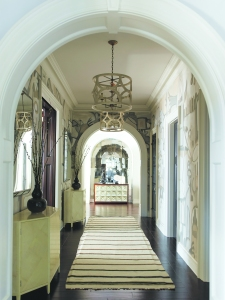 The main hallway at 41 Halsey, a turnkey property in Water Mill. (Photo: courtesy Corcoran)