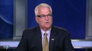 Former Congressman ad Democratic DA candidate Michael McMahon. (Screengrab: NY1)