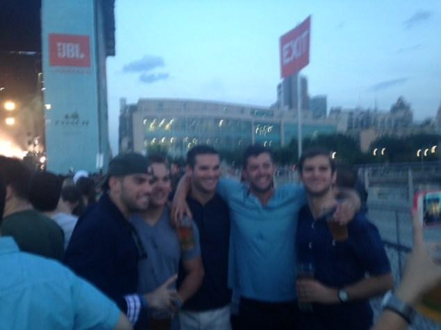 Bros bro-ing out at Pier 97. (Photo: Ilana Kaplan)