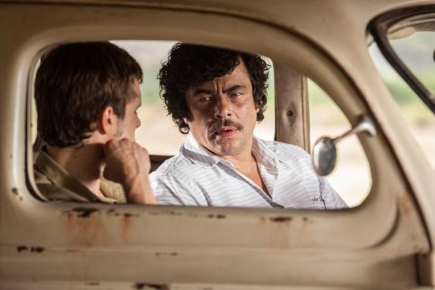 Josh Hutcherson, left, and Benecio Del Toro in Escobar: Paradise Lost.