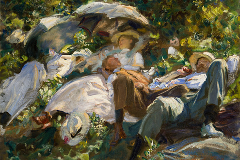 John Singer Sargent, Group with Parasols (Siesta). (Photo: courtesy of The Metropolitan Museum of Art)