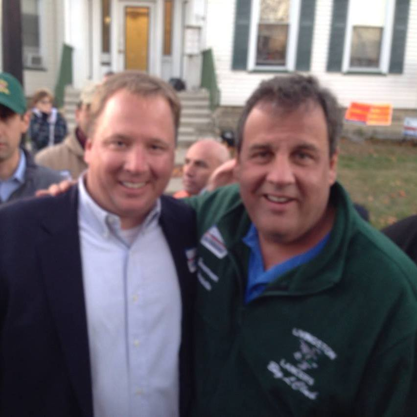Scanlan with Gov. Chris Christie.