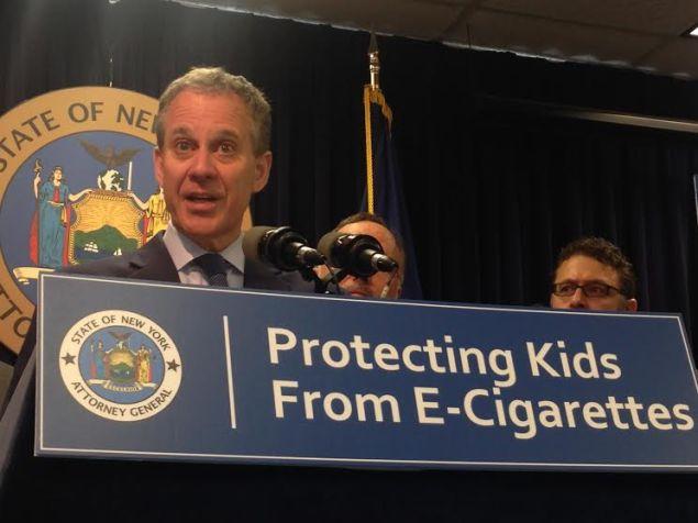 Attorney General Eric Schneiderman today (Photo: Will Bredderman/New York Observer).