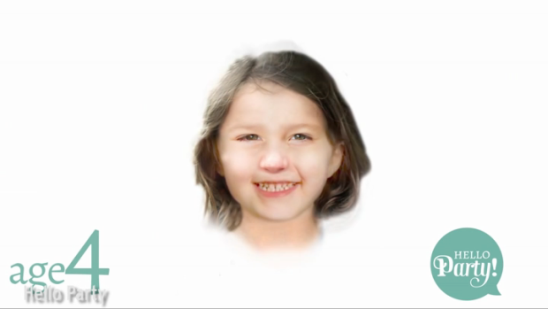 Age 4. (Photo: The Mirror/Hello Party)