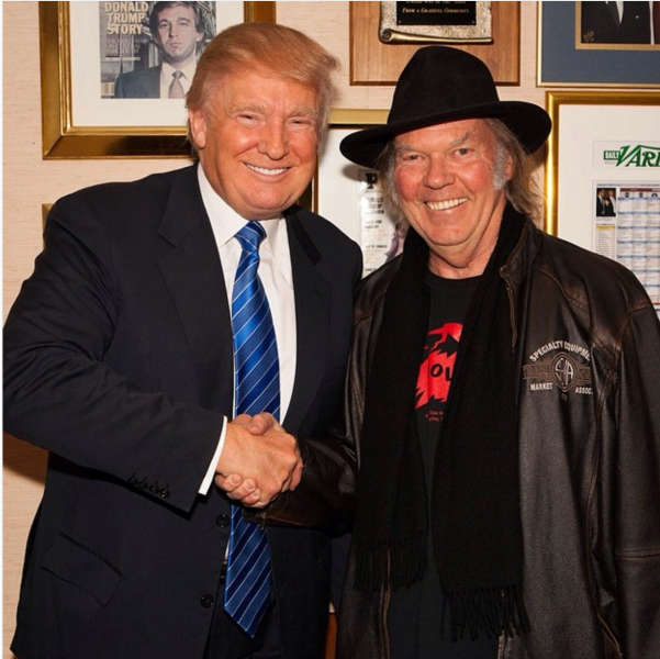 Trump and Young in their squinty–eyed glory, during friendlier times. (Photo: Instagram)