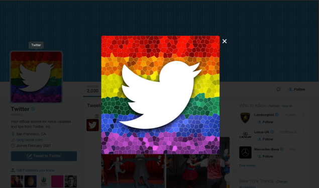 New icon for the official @Twitter account. [Image: Screenshot]