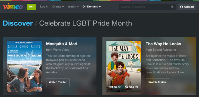 Vimeo set this up for Pride Month but then noted the Supreme Court decision in a blog post. (Image: Screenshot)