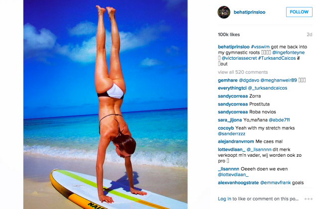 Ms. Prinsloo had some fun at the beach. (Photo: Instagram/Behati Prinsloo)
