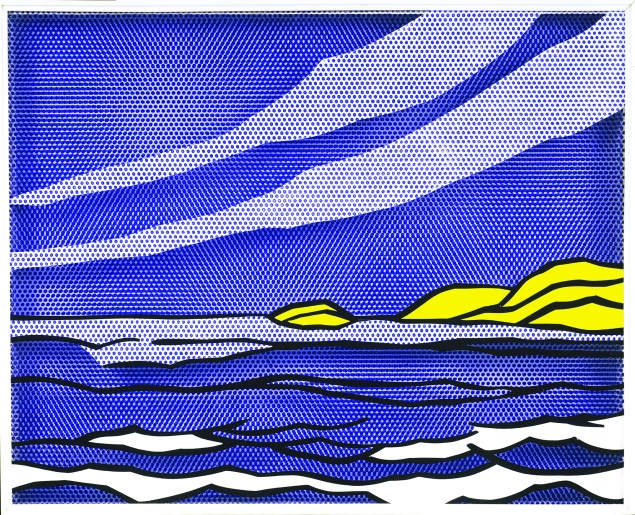 Sea Shore (1964) by Roy Lichtenstein.