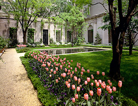 The Russell Page Garden at the Frick Collection. (Photo by Michael Bodycomb, Courtesy of the Frick Collection)