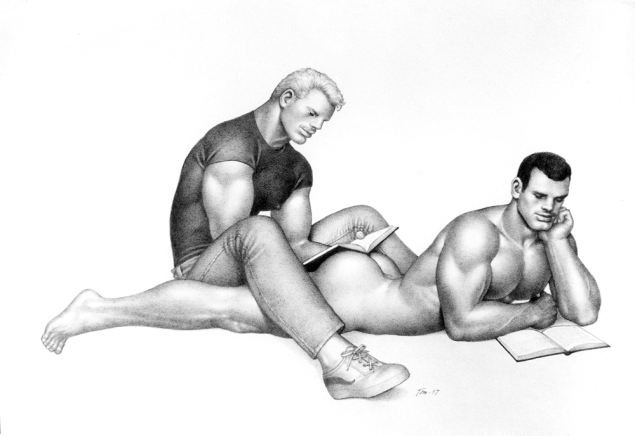 Tom of Finland Untitled, 1987. (Photo: Tom of Finland Foundation, Permanent Collection, courtesy Artists Space)