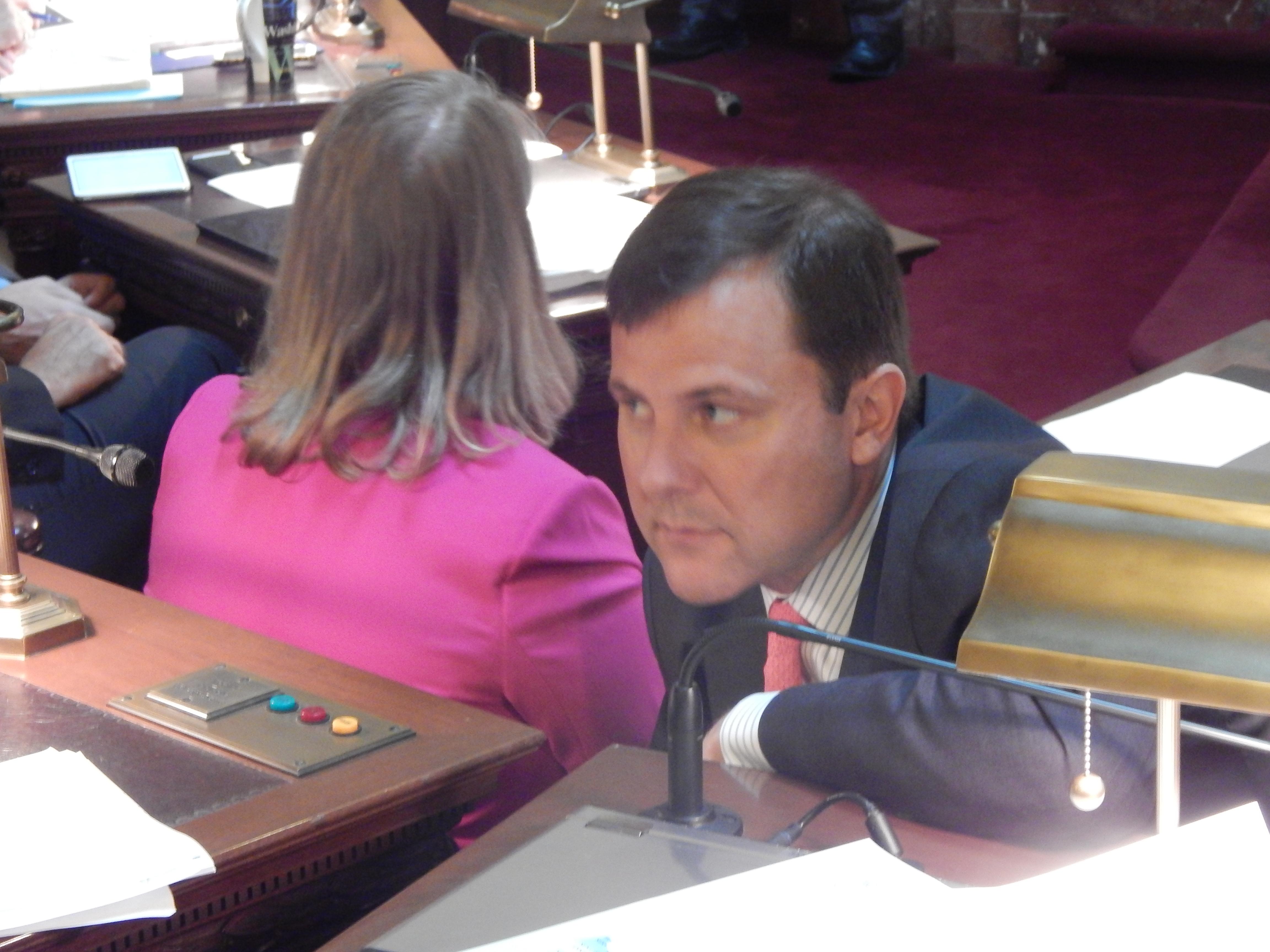 Will Senate Minority Leader Tom Kean, Jr. (R-21) be at Christie's Tuesday kickoff? Photo by Mark Bonamo.