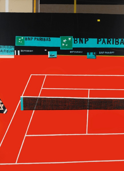 French Open I by Jonas Wood. Photo: Courtesy of Sotheby's S|2