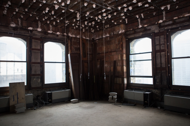 The 40th floor space that was once the office of Frank Winfield Woolworth. (Arman Dzidzovic/New York Observer.)