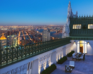 A rendering of one of the terraces. (Courtesy Woolworth Tower.)