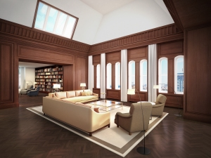Brokers praised the residential design as being perfectly suited to the building. (Courtesy Woolworth Tower.)