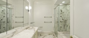 And now a look at the marble master-bathroom. (Mercedes/Berk)