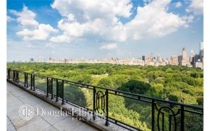 Just a peek of the Central Park views in this penthouse duplex. (Douglas Elliman)