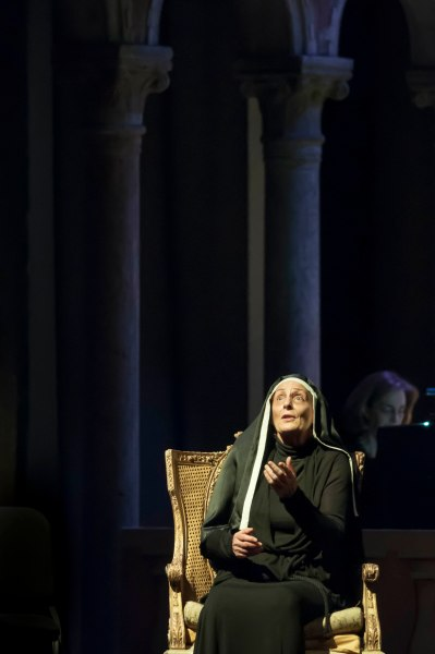 Deborah Polaski, soprano, in Dialogues des Carmélites by Francis Poulenc, in the Venetian Theater at Caramoor in Katonah New York on July 23, 2015. (Photo: Courtesy of Gabe Palacio)