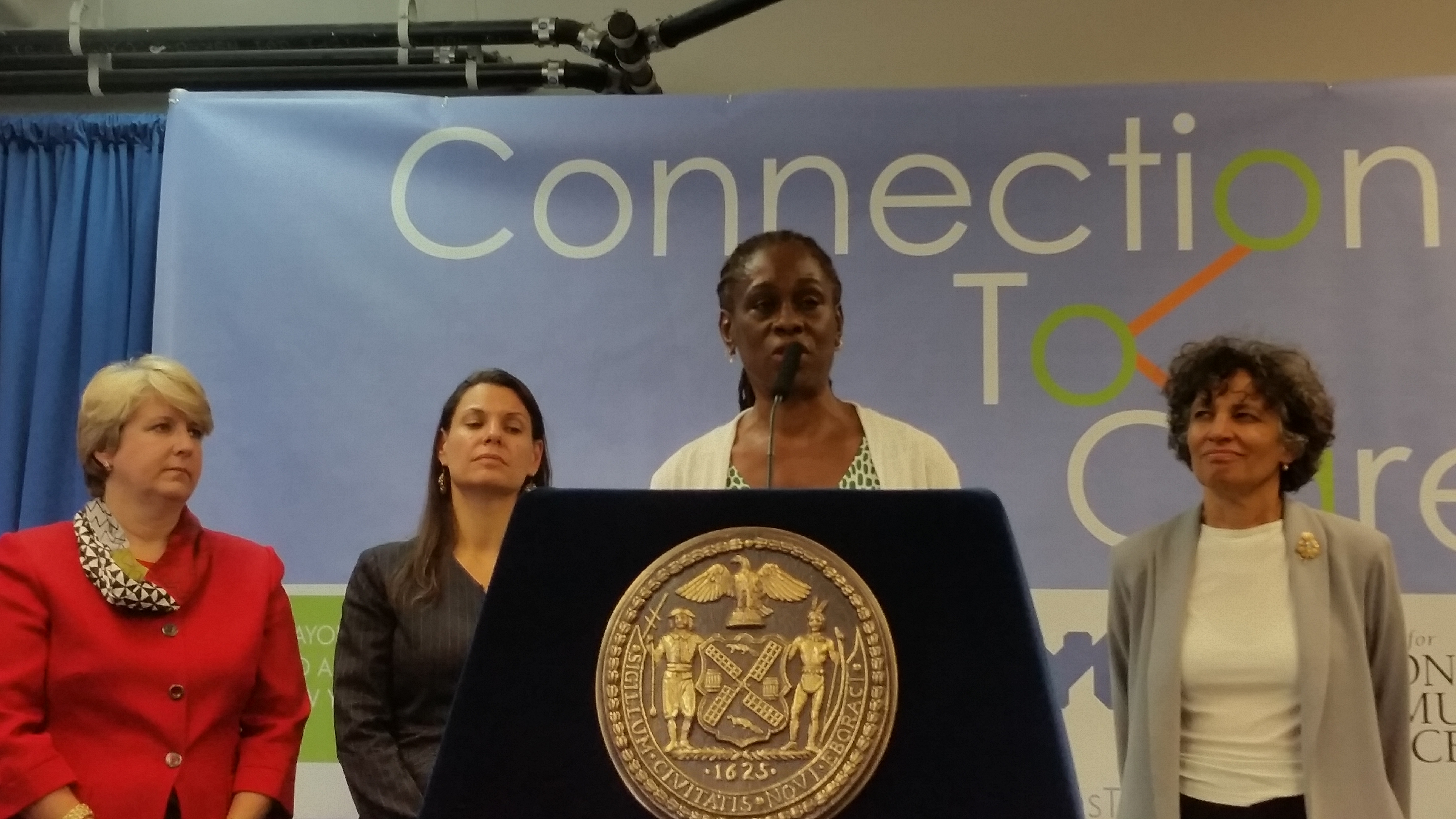 Chirlane McCray today. (Photo: Ross Barkan/New York Observer)